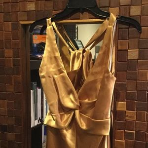 Gold open back gown